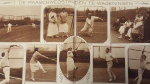 Impressie van het Paastoernooi in LawnTennis en Golf, midden jaren twintig.