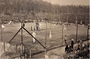 De tennisbanen bij Belvedère in 1934